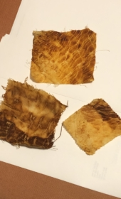 Rusted fabric samples