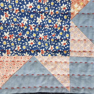 Viv Philpott - Child's quilt close up showing quilting April 2020