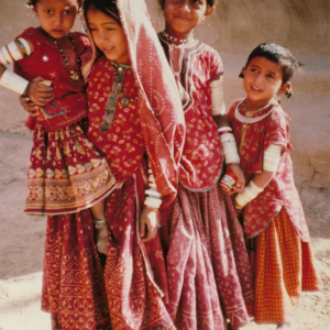 Girls from Hodka village, Kutch, Gujarat by Annie Folkard