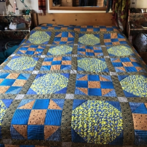 African fabric quilt April 2020