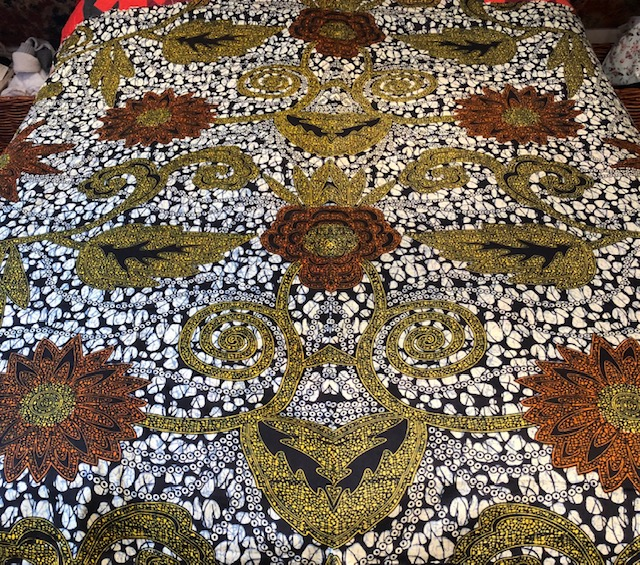 Tanzanian  Textile double sided quilt